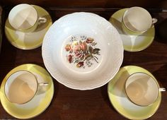 Pretty yellow tea cups!