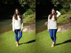 Renner Tricot, Strass Destroyed Jeans, Raphaella Booz Boots Look of the day | Outfit of today | Fashion | Blá Blá do Dia