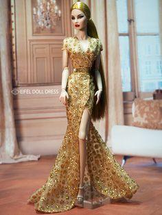 Barbie Wedding Dress, Barbie Gowns, Barbie Dress, Barbie Clothes, Fashion Royalty Dolls, Fashion Dolls, Gala Dresses, Nice Dresses, Beautiful Barbie Dolls