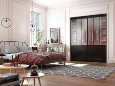 Chambre adulte : apporter un style atelier avec ma porte de placard Decoration, Divider, Room, House, Furniture, Home Decor, Style, Closet Solutions, Build Your House