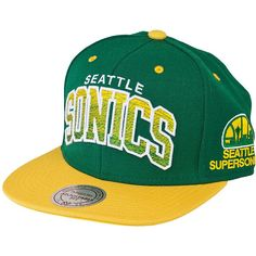 Mitchell & Ness Arch Gradient Cap Seattle Supersonic