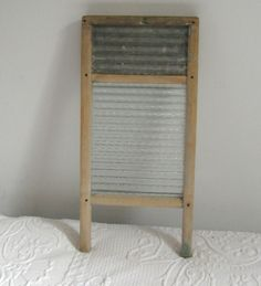 vintage washboard . washboard . lingerie washboard . glass and stainless steel washboard by vintagous on Etsy