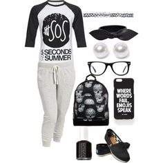 first day of school by carmentirado on Polyvore featuring polyvore, fashion, style, Old Navy, Mi-Pac, Yves Saint Laurent, Nouv-Elle, Wet Seal, Jac Vanek, Muse, Essie and TOMS