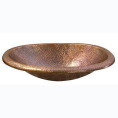 Barclay Products Undermounted Bathroom Sink in Hammered Antique Copper
