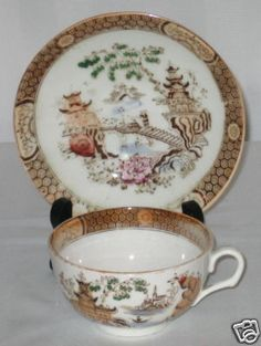 Chinese PatternCup Saucer Royal Worcester
