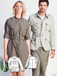 Men's Safari Jacket 02/2016  #burdastyle #sewing #pattern #sew #diy