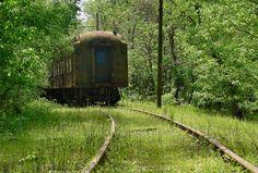 Abandoned train. French Lick, Indiana.