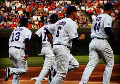 Starlin Castro, Darwin Barney, Bryan LaHair and Anthony Rizzo