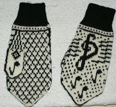 Ann Britt`s hobbyside: Musikkvotter, mønster Dere, Knit Mittens, Drink Sleeves, Knitting Patterns, Diy And Crafts, Knit Crochet, Projects To Try, Socks, Knits