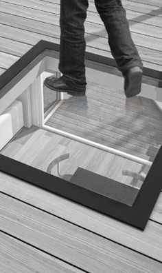 StepGlass Walk On Glass Flat Rooflight / Skylight / Lantern for Flat Roofs & Basements & Terraces