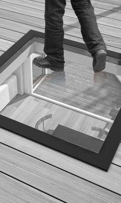 StepGlass Walk On Glass Flat Rooflight / Skylight / Lantern for Flat Roofs & Basements & Terraces