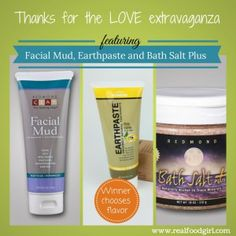 Thanks For the 'Love' Giveaway from Real Food Girl: Unmodified and Redmond Clay!