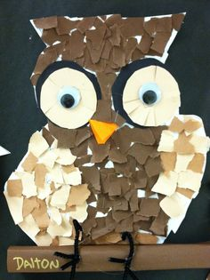 Getting My Art Wings Back: Grade 1 Torn Paper Owls