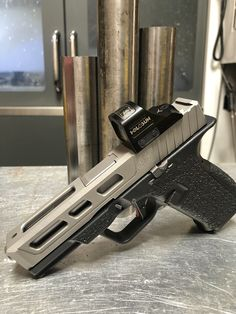 Custom Milled Stainless Glock 19 Slide With P-51 Style Slide Porting Gen 3