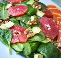 Grapefruit and Avocado Salad with Cara Cara Orange Vinaigrette