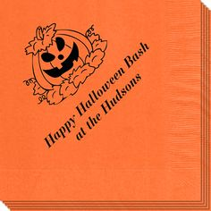 Pumpkin Patch Napkins for our future Halloween parties