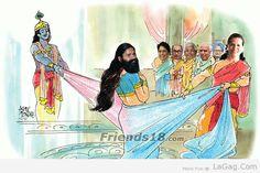 Baba Ramdev VS Sonia Gandhi Cheer Haran