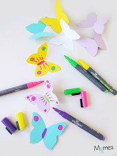 C'est si simple de réaliser de jolis papillons pour décorer ou pour jouer ! Surtout avec notre gabarit de papillon à imprimer. Il ne reste plus qu'à découper et colorier de jolis papillons en papier.