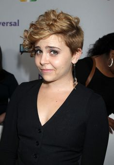mae whitman...adorable hair! Totally copying her piercings after the wedding...