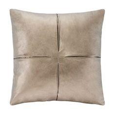 Madison Park Metallic Faux-Leather Decorative Pillow