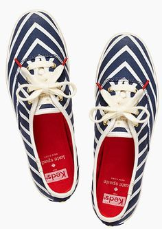 Cute Keds for #Katespade in a blue chevron print - only $42 after using code:  MARCHSALE http://rstyle.me/n/g4ezdnyg6
