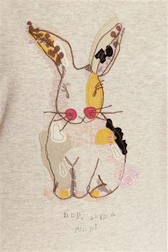 Nice shape - Buy Rabbit Appliqué Short Sleeve Pyjama Set from the Next UK online shop