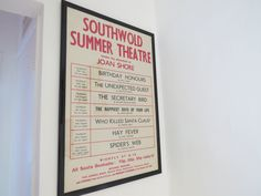 An old Southwold Summer Theatre bill found at Astondene on East Cliff in Southwold