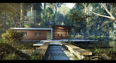 CGarchitect - Professional 3D Architectural Visualization User Community | House In The Wild : A Morning Shot