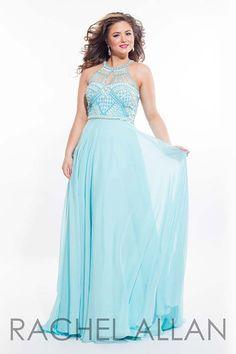 Rachel Allan Curves 7412 Aqua_Mint Prom 2016 Plus_Size