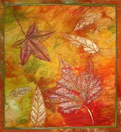 Autumn Study Sarah Ann Smith art quilts