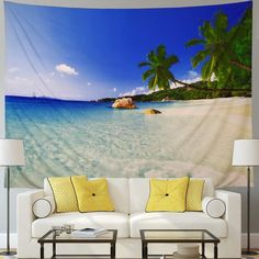 Discover the best beach themed tapestries and coastal wall tapestries. We love beach wall decor and tapestries are affordable and beautiful, which makes them a great option. Tree Tapestry, Bohemian Tapestry, Tapestry Wall Hanging, Hippie Bohemian, Hanging Flower Wall, Beach Wall Decor, Hanging Pictures, Ocean Beach, Beach Themes