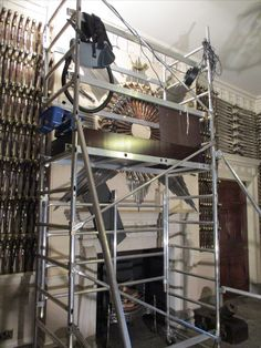 Work is already underway with our closed season maintenance programme in the Armoury.  Scaffolding is built to enable deep cleaning.  Thanks to our Collections Care and Housekeeping teams for getting us ready for the season ahead,