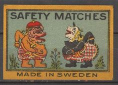 Melatti Match Box Label  made in Sweden Old Matchbox paper label horse