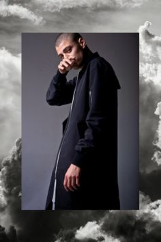 LA-based line, Fear of God's second collection look book. Black White Fashion, Dark Fashion, Mens Fashion, Street Fashion, Drop Crotch Shorts, Bald Men, Men's Coats And Jackets, Black And White Portraits, New Fashion Trends