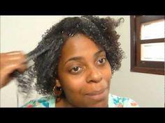 Como passar creme no cabelo crespo!