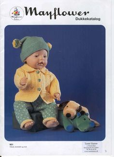 Albumarkiv Baby Born Clothes, Preemie Clothes, Knitting Dolls Clothes, Crochet Doll Clothes, Knitted Dolls, Doll Clothes Patterns, Doll Patterns, Girl Dolls, Baby Dolls