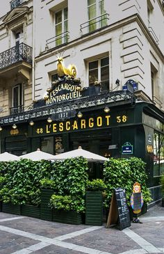 L'Escargot - Paris, France (in case you were wondering, l'escargot is amazing if you like seafood!)