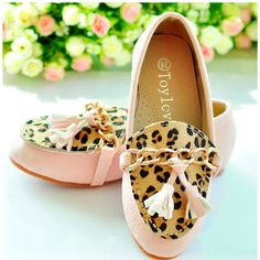 Pink Animal Print Little Girls Kids Party Pageant Moccasins Shoes Best  SKU-133053