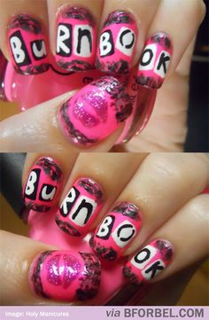 "b for bel: Mean Girls ""Burn Book"" Manicure. LOL"