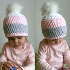 Beanie Knitting Patterns Free, Knit Crochet, Crochet Hats, Knitting For Kids, Kids Hats, Ear Warmers, Crochet Fashion, Knit Beanie, Cat Toys