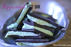 Peppermint Patty Bark, minty peppermint patty filling sandwiches between to slabs of sweet chocolate.