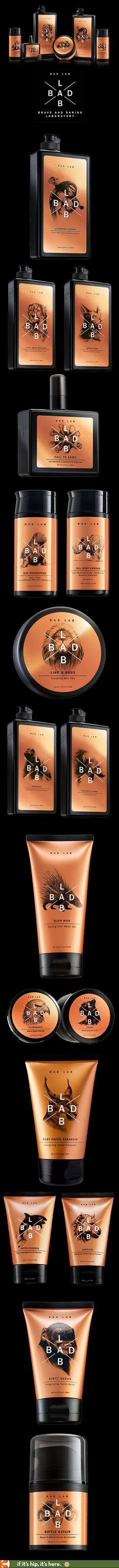 Bad Lab Co.- grooming products for men with terrific packaging, branding and attitude.