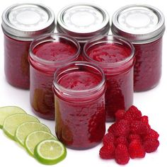 {Easy Raspberry-Lime Freezer Jam}