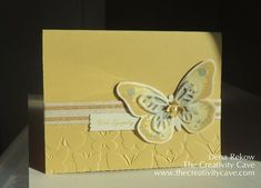 Watercolor Wings Sympathy #stampinup The Creativity Cave, Dena Rekow, Handmade Cards, Sympathy