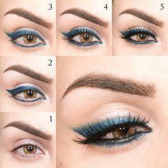 Hazel eye make-up: easy and impactful - Beautydea - hazel eye makeup tutorial - Hazel Eye Makeup, Eye Makeup Steps, Hazel Eyes, Smokey Eye Makeup, Makeup Tips, Makeup Trends, Makeup Ideas, Blending Eyeshadow, How To Apply Eyeshadow