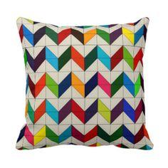 Multicolored Chevron Pillow http://www.zazzle.com/ShabzDesigns?rf=238566710065069658