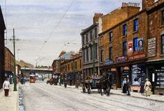 Arkwright Street, Nottingham, 1912, by Harry Haslam.