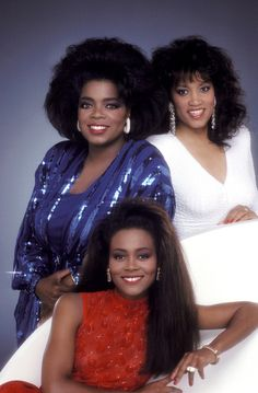 "milkandheavysugar: "" Robin Givens, Oprah Winfrey, and Jackee Harry (1989) """