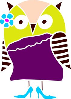 Quickly and easily paint a fun and fabulous design in your childs bedroom, playroom and more with our Lady Hoot Owl Stencil!