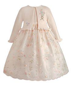 Pastel Floral Embroidery Dress & Cardigan - Toddler & Girls #zulily #zulilyfinds